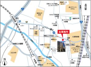 オフィスへの地図